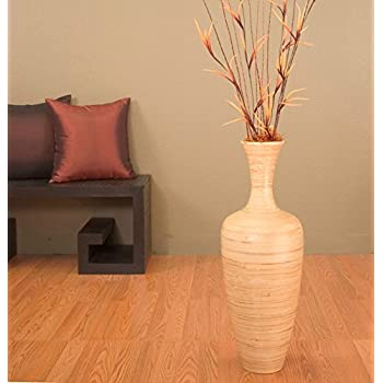 Amazon Greenfloralcrafts 27 Inch Slender Natural Bamboo Floor
