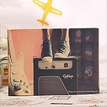 ToiM Music Theme Adhesive Scrapbook Photo Album Memory Book DIY Album Wedding Scrapbook Vintage Photo Album Baby Album DIY Handmade Album Self-paste Album Personalized Album Lovers Album