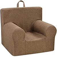 Kangaroo Trading Weston Grab-N-Go Kids Chair with Handle (No Welt) Jitterbug Pecan Childrens