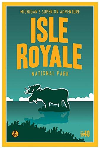 Isle Royale, Lake Superior Michigan Travel Art Print Poster by Matt Brass (12