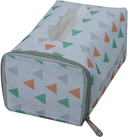 LLxxx Caja de pañuelos-Caja Blanca del Tejido del Almacenamiento de la Rejilla de la Caja de Almacenamiento de Papel de la decoración, triángulo: Amazon.es: Hogar