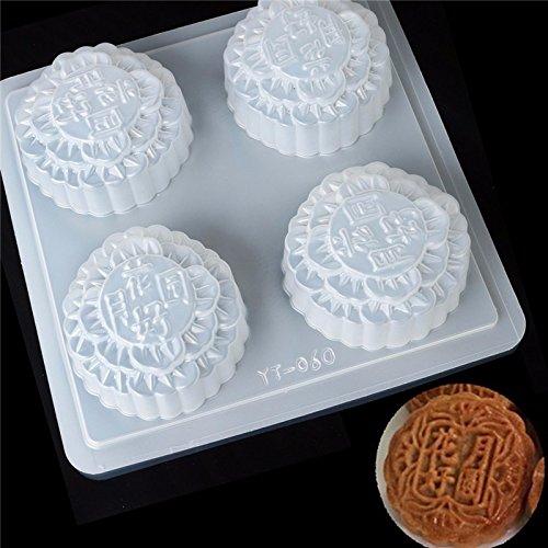 Diy 4 Round Circle Shape Ice Pudding Moon Cake Mold Christmas Jelly Fondant Baking Tools OEM