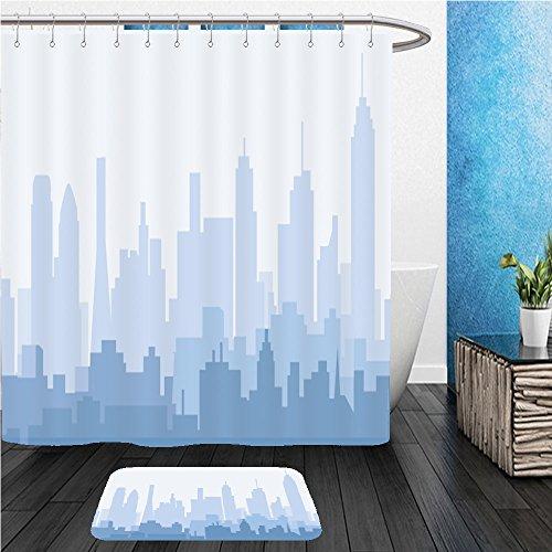 Beshowereb Bath Suit: ShowerCurtian & Doormat dallas morning skyline - Macys Dallas