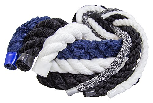 FMS Ultra Soft Triple-Strand 1/4 Inch & 1/2 Inch Twisted Chenille Rope by the Foot, 10 Feet, 25 Feet, 50 Feet, 100 Feet and Full Spools (White)(1/4 Inch x 100 - Tug Nautical