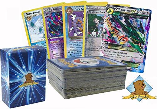 100 Pokemon Card Lot with Foils Rares and 1 Legendary Pokemon Mega EX No Duplication By Golden Groundhog (Pokemon Ex Golden Cards)