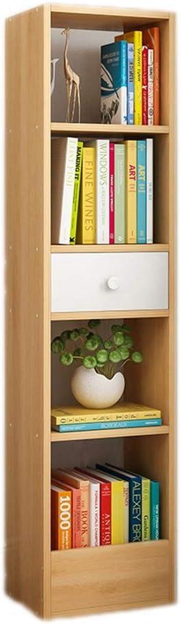 ブックシェルフ 現代総本店の家具の北欧のかえでの木製の本だな 書類整理 文具収納 (色 : Nordic Maple, サイズ : 30*25*120cm)