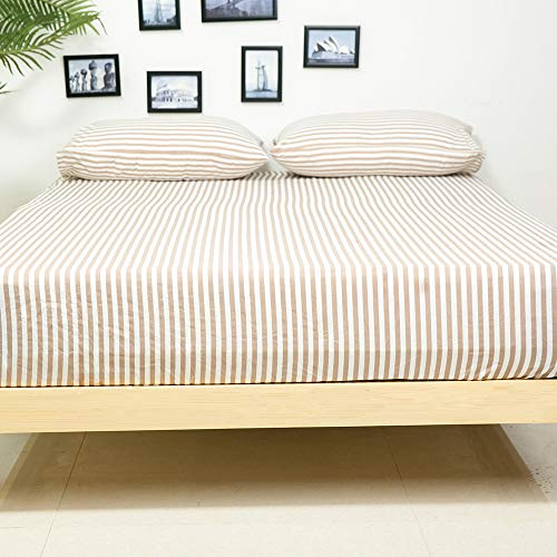 (Homelike Collection Bed Sheets Set Full Size - Stripe Chocolate Classic Pattern Sheets - Deep Pocket,Great Value, Ultra Soft & Breathable,Wrinkle Free Hypoallergenic Bedding)