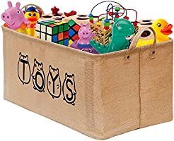 "UPDATED Gimars 22"" Jute Storage Basket Bin Chest Organizer - Perfect for Organizing Toy Storage, Baby Toys, Kids Toys, Dog Toys, Baby Clothing, Children Books, Gift Baskets"
