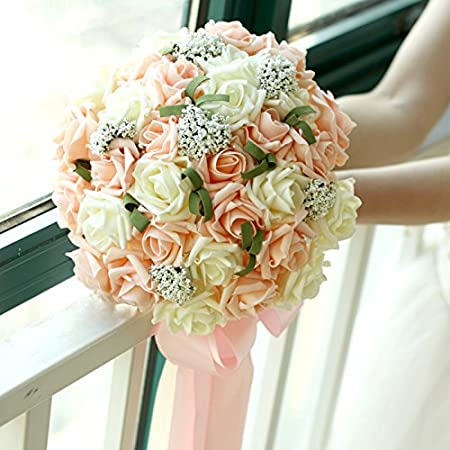 Bouquet A Cascata Sposa.Fiori Matrimonio Spose Bouquet A Cascata A Mano Azienda Fiori