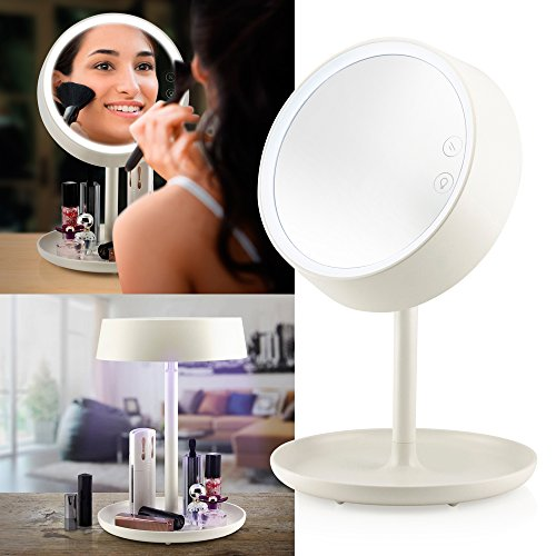 Oct17 Makeup Mirror Lighted Lamp LED Vanity Travel Portab...