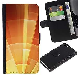 iBinBang / Flip Funda de Cuero Case Cover - Escudo de Orange Summer Soleado - Apple Iphone 5 / 5S