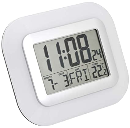 Balvi - Reloj de pared o sobremesa digital blanco