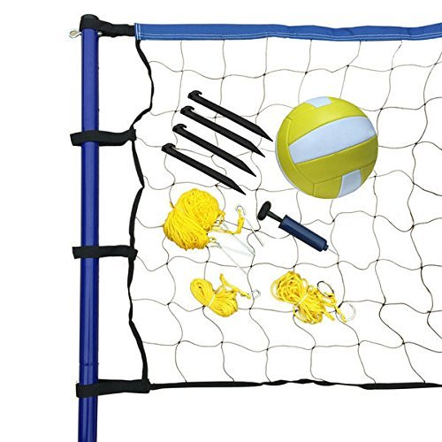 Portable Volleyball Net/ Posts/ Ball and Pump Set by Hathaway