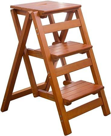 Arriba, Escalera de 3 escalones, Silla Escalera Biblioteca Steps, Peldaño de Cocina Plegable con peldaños Antideslizantes Altura de Herramienta 66 cm Máx. 200kg: Amazon.es: Hogar