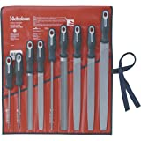Nicholson 22030Hnn Comfort-Grip Industrial File Set, 9Pc