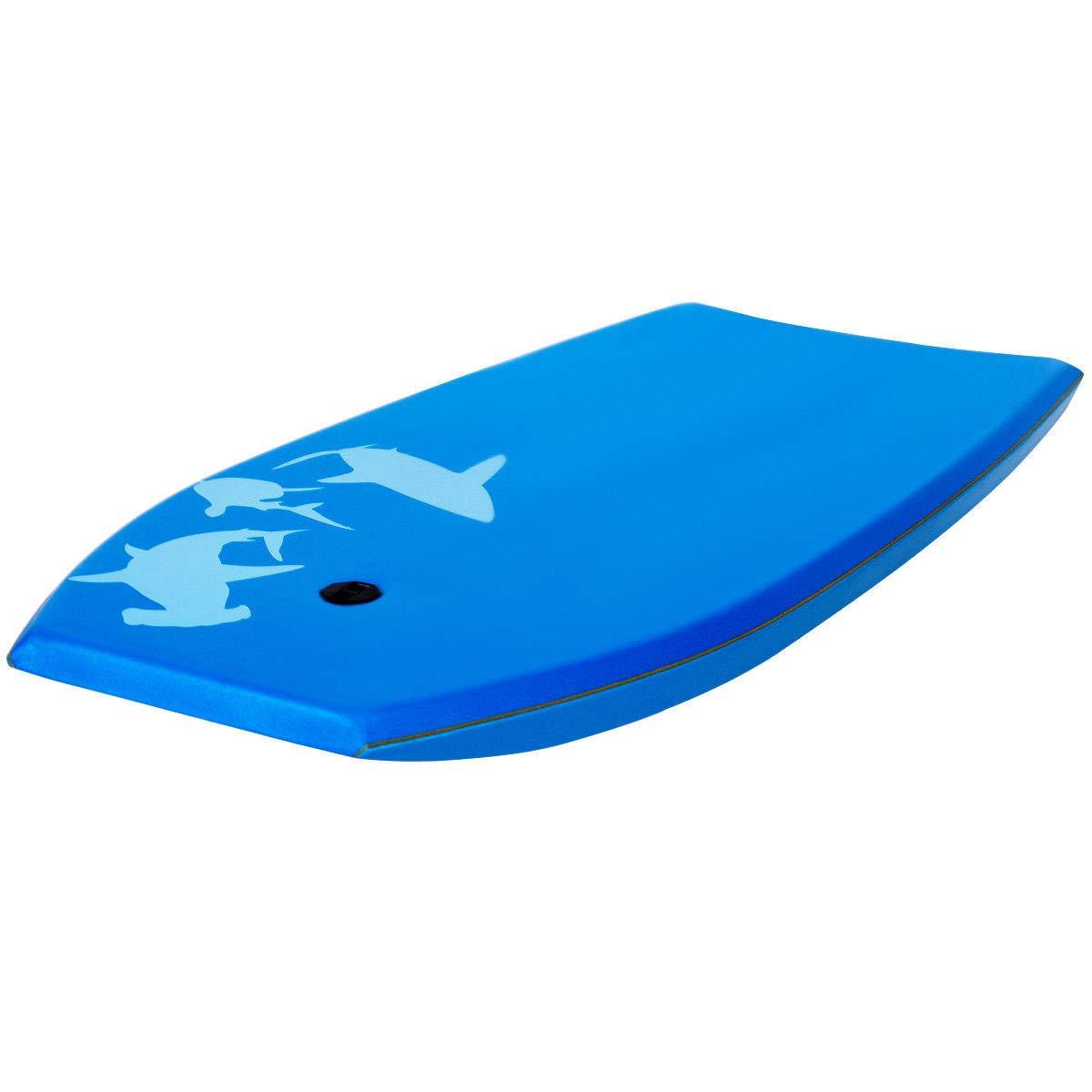 oldzon Bodyboard Surfing 41'' Lightweight Super w/Leash EPS Core Boarding Blue with Ebook