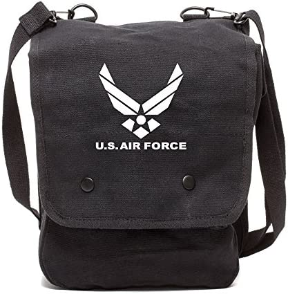 US Air Force Canvas Crossbody Travel Map Bag Case