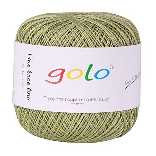- Crochet Thread Yarns for Begingers Size6-100% Contton Yarn for Knitting Crochet DIY Hardanger Cross Sitch Crochet Thread Balls Rainbow Turquoise 39 Colors Avilable (Light Green)
