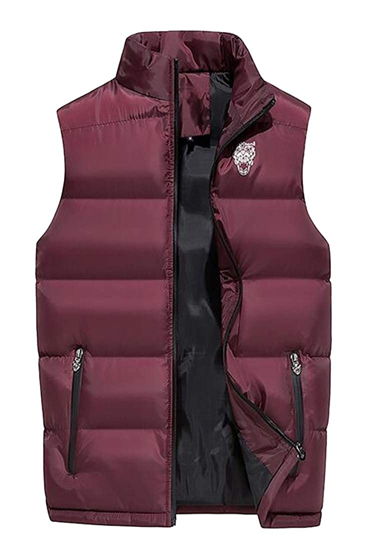 WAWAYA Men Warm Plain Thicker Winter Down Quilted Jacket Coat Outwear Vest