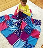 quilt kits for kids - Fleece Starry Sky Knot-A-Quilt No Sew Craft Kit