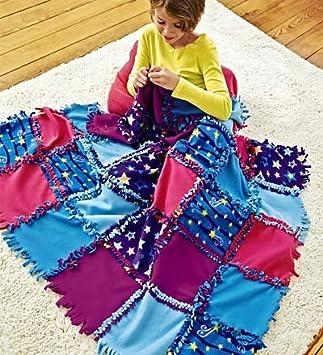 Amazon.com: Fleece Starry Sky Knot-A-Quilt No Sew Craft Kit: Toys ... : no sew quilts - Adamdwight.com