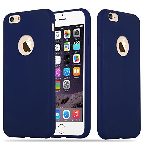 Cadorabo - Cubierta protectora Apple iPhone 6 / 6S de silicona TPU en diseño Candy - Case Cover Funda Carcasa Protección en CANDY-ROSA AZUL-OSCURO-CANDY