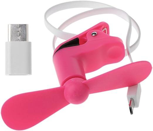 Yiwann Ventilador Portátil, Micro USB & Tipo C Clip Ventilador de ...