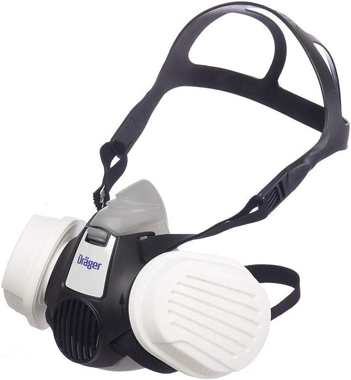 Dräger X-plore® 3300 Semimáscara de protección + filtros de partículas P3 R, mascarilla para Trabajos de construcción contra Polvo, partículas