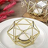 48 Gold Hexagon Shaped Geometric Design Tea Light Votive Candle Holders