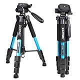 ZOMEI 55'' Lightweight Compact Travel Portable Camera Tripod for Canon Nikon Sony DSLR Camera Video with Carrying Bag(Blue)
