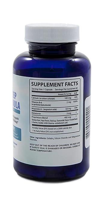 Amazon.com: 12 Natural Sleep Aids in 1. Adult Extra Strength for Fast deep  Sleep. Melatonin Passion Flower, Valerian Root, GABA, Chamomile, Skull Cap.