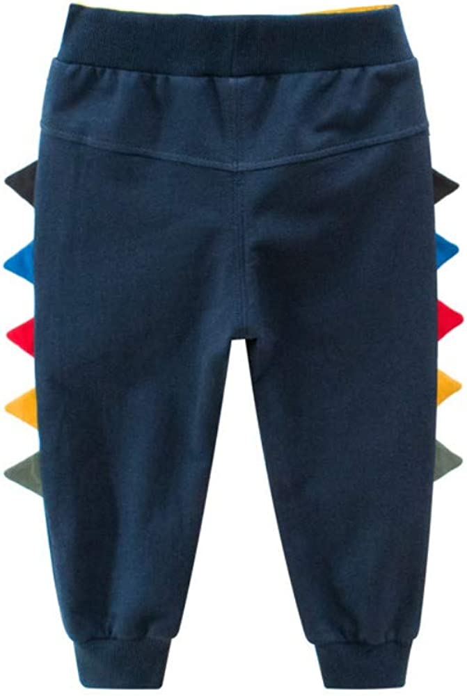 Loveablely Spring Autumn Boys Trousers Children Cotton Solid Color Sweat Pants Outwear Age 1-6Y