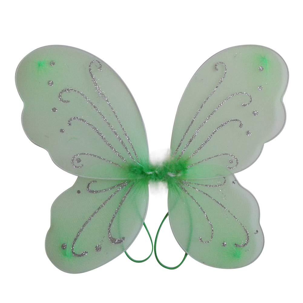 Miyanuby Schmetterling Fl/ügel Kinder M/ädchen Prinzessin Halloween M/ädchenkost/üme Engel Fl/ügel Party Fancy Kleidung Fee Kost/üm