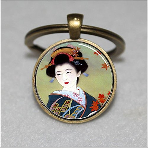 Japanese Geisha Keychain ,Geisha Keychain,Geisha Keychain,Unique Key Ring Customized Gift,Everyday Gift Key Chain
