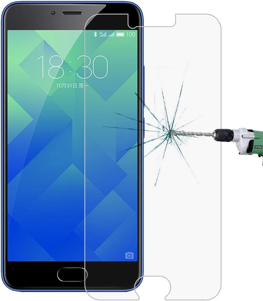 No Retail Package Tempered Glass Film XHC Screen Protector Film 50 PCS for Meizu M5 0.26mm 9H Surface Hardness 2.5D Explosion-Proof Tempered Glass Screen Film