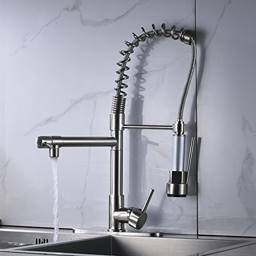 Rozin LED Light Sprayer Kitchen Sink Faucet with 8-inch Cover Plate Brushed Nickel by Rozin (Image #5)