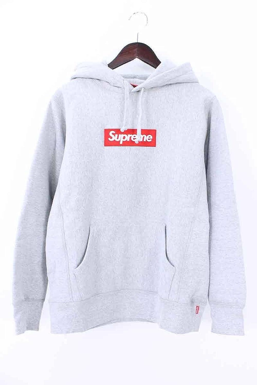 (シュプリーム) SUPREME 【16AW】【Box Logo Hooded Sweatshirt】ボックスロゴフーデッドスウェットパーカー(S/ライトグレー) 中古 B07DHJV5Q9