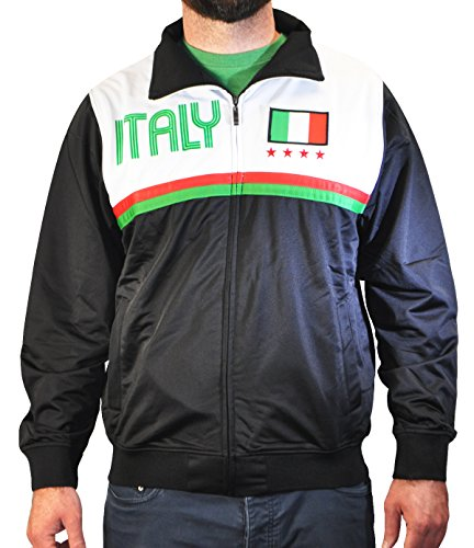 - Amdesco Men's Italy Italian Pride Sport Track Jacket, Small