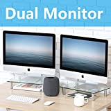 FITUEYES Computer Monitor Riser 2 Pack Desktop Tabletop Stand with Height Adjustable for Xbox One/Component/Flat Screen TV DT103803GC