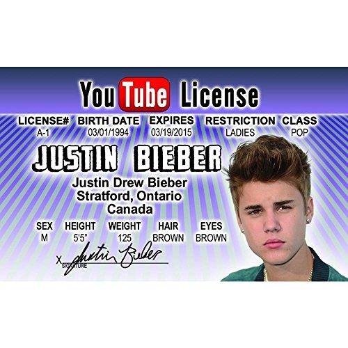 Signs 4 Fun Nroidjb Justin Bieber's Driver's License