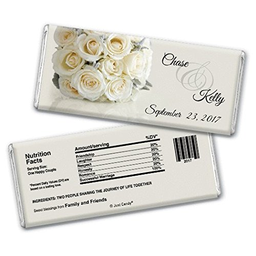 Personalized Candy Wedding Favors Timeless Bouquet (25 Wrappers)