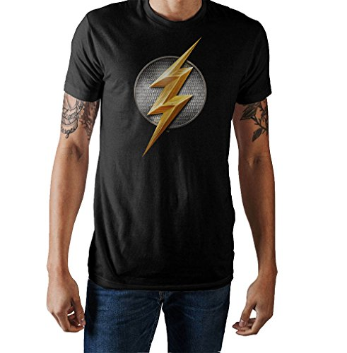 Bioworld Justice League Flash Logo T-Shirt-XXL Black