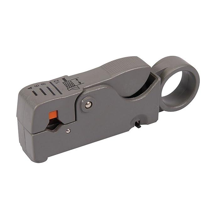 Silverline 868823 Dénudeur de câbles coaxiaux RG6/58/59/62