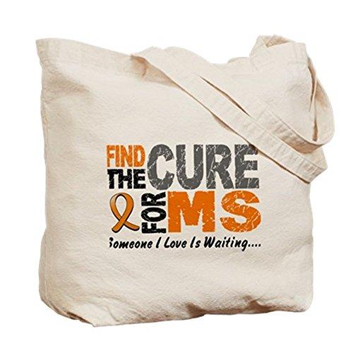 Cafepress–Find The Cure 1ms–Borsa di tela naturale, tessuto in iuta