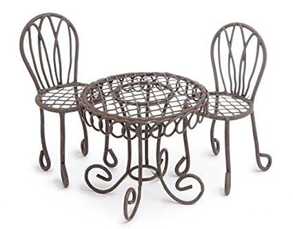 Marshall Home And Garden U0026quot;Bistro Table Setu0026quot; Miniature Fairy Garden  ...