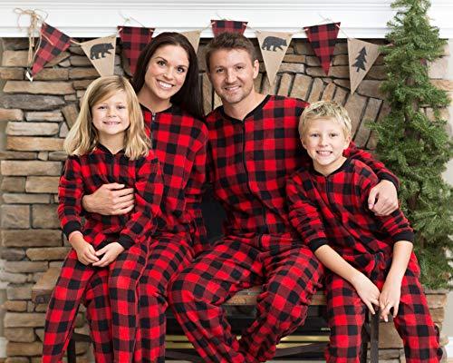 Amazon.com  SleepytimePjs Family Matching Red Plaid Fleece Onesie PJs  Footed Pajamas  Clothing 12d3210b0