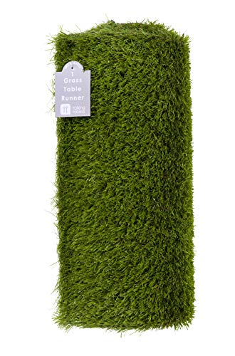 Talking Tables MIX-GRASSRUNNER Artificial Grass Runner Party Table Decoration, Length 1.5M, 5ft, Green -