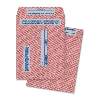 QUA63778 - Quality Park Gray/Red Paper Gummed Flap Confidential Interoffice Envelope