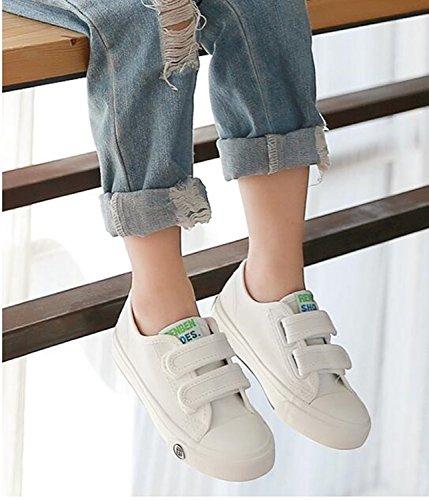 Sakuracan Fashion Sneaker for Boys Girls Canvas Velcro Running Sport Shoes (Toddler/Little Kid) by Sakuracan (Image #2)