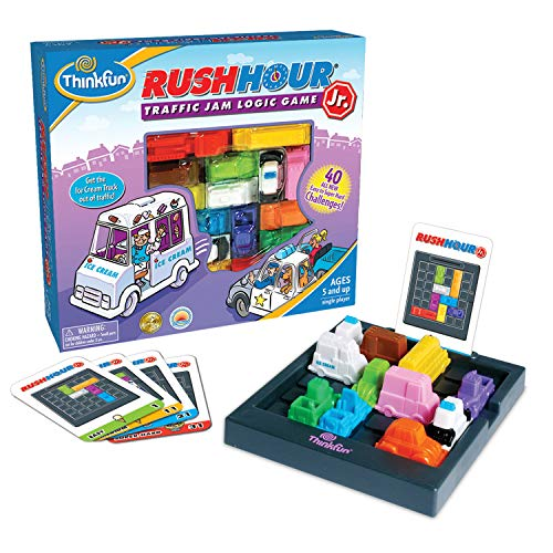 ThinkFun Rush Hour Junior Traffic Jam Logic Game and STEM Toy for Boys and Girls Age 5 and Up - Junior Version of the International Bestseller Rush -